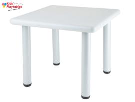 Vierkante Kunststof Kindertafel kleur lichtgrijs - Plastic tafel - Kleurtafel / speeltafel / knutseltafel / tekentafel / kunstof tafel - zitgroep set / kinder speeltafel