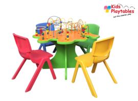 Kralentafel Beadstree set met 4 stoeltjes Sally