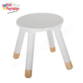 Houten krukje | Kleur wit | Kinderkrukje hout | kruk | kinderstoel | kinderzetel | krukjes | peuterstoeltje