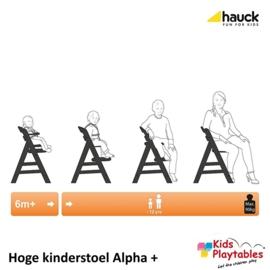 Hoge Kinderstoel Hauck Alpha Plus Black-washed