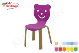 Houten stoel , stapelstoel , kinderstoeltje Beer