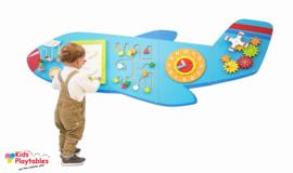 Wandspel | Wandspeelbord Vliegtuig 5-delige set