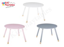 Kindertafel rond kleur grijs - Speeltafel Rond - houten Kindertafel - Kleurtafel / activiteitentafel/ knutseltafel / tekentafel - kinderzetel - kinderstoel - kindertafel en stoeltjes