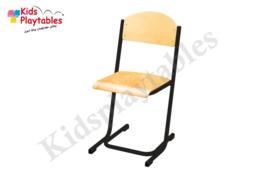 Zwarte Stapelbare Leerlingstoel met stalen poten U frame