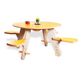 4-zits Kinderspeeltafel Tavi Geel/grijs