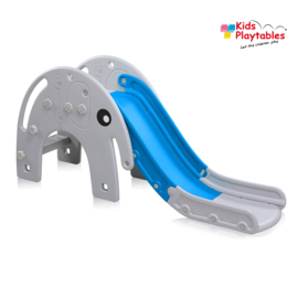 Kinderglijbaan Olifant glijbaan buitenspeelgoed grijs -blauw