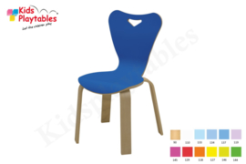Houten stoel , stapelstoel , kinderstoeltje Heart