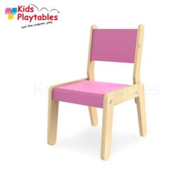 Kinderstoel - Schoolstoel- Simple kleur roze