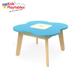 Kinder Speeltafel Simple met opbergruimte kleur blauw