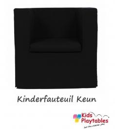 Kinderfauteuil Keun Katoen Zwart
