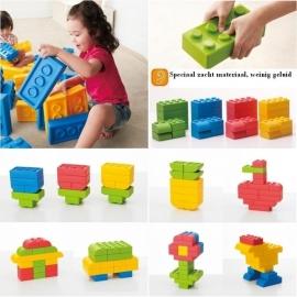 Zachte Reuze Bouwblokken voor uw kinderhoek set 64 stuks