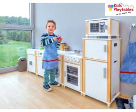 Kinderkeuken Compleet 6-delig in de kleur wit | Kleuterkeuken | Speelgoedkeuken