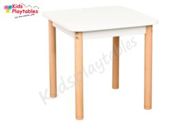 Vierkante tafel kinderhoek wit 60 x 60 cm