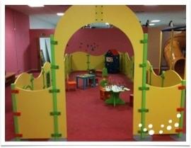 Tussenwand voor kinderhoek hekwerk Opening