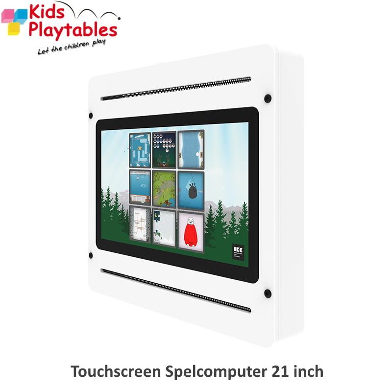 Touchscreen Spelcomputer wandspel 21 inch wit