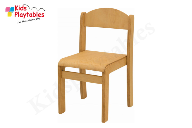 Houten Stapelbare HPL stoel , stapelstoel, kinderstoeltje Tamara blanke lak | kinderopvang en BSO