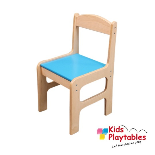 Houten Kinderstoeltje Thom H 28 cm kleur blauw