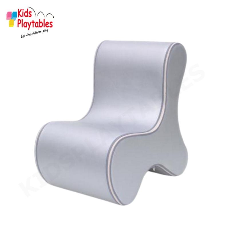 Design Kinderstoel, Kinderzetel Ozo Bone in de kleur Zilver