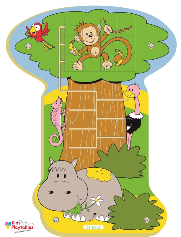Wand Spelpaneel Jungle Aap