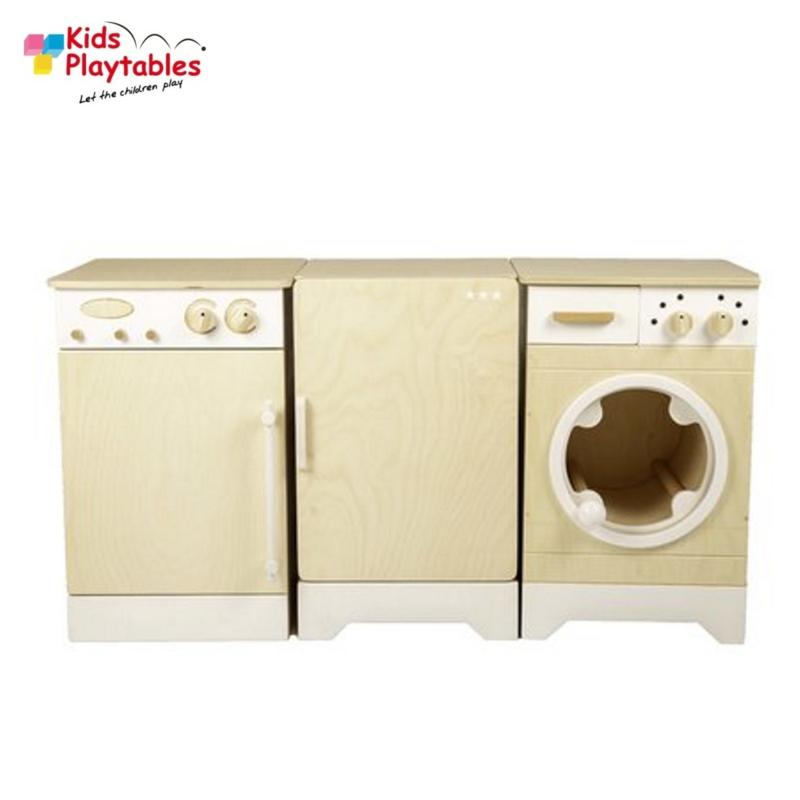 Kinderkeuken Speelgoed keuken Compleet 3-delig in de kleur whitewash