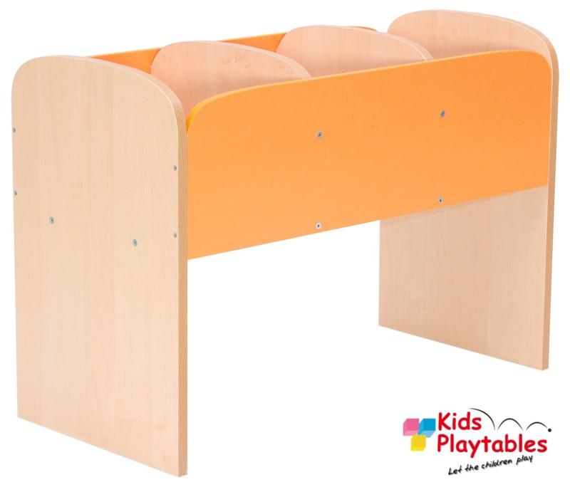 Lage boekenkast voor kinderen in de kleur Oranje
