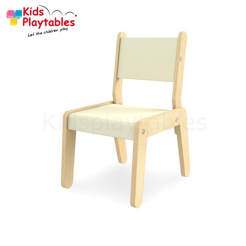 Kinderstoel - Schoolstoel- Simple kleur wit