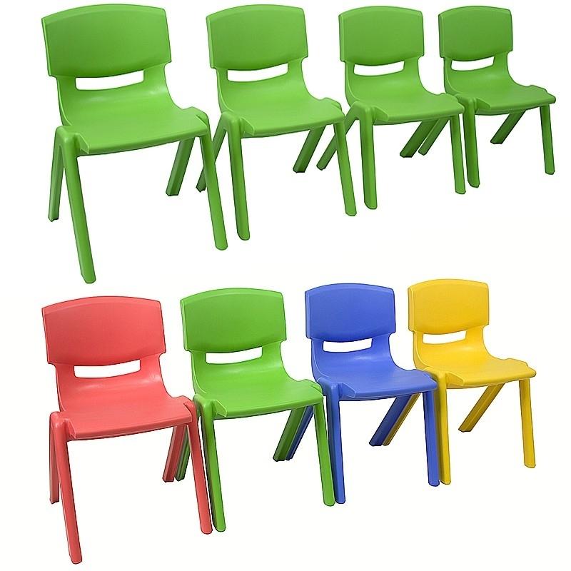 Ongekend Stapelbare kinderstoeltje Sally Groen | Kinderstoeltjes ER-06