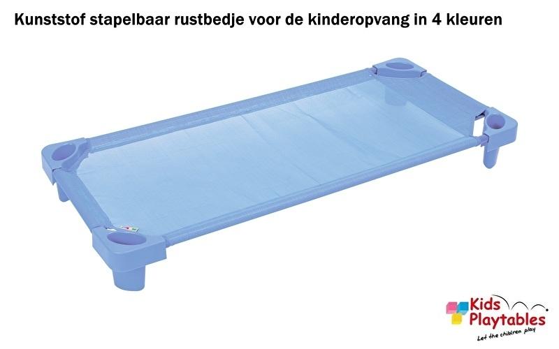 Stapelbare Rustbedje Kunststof blauw