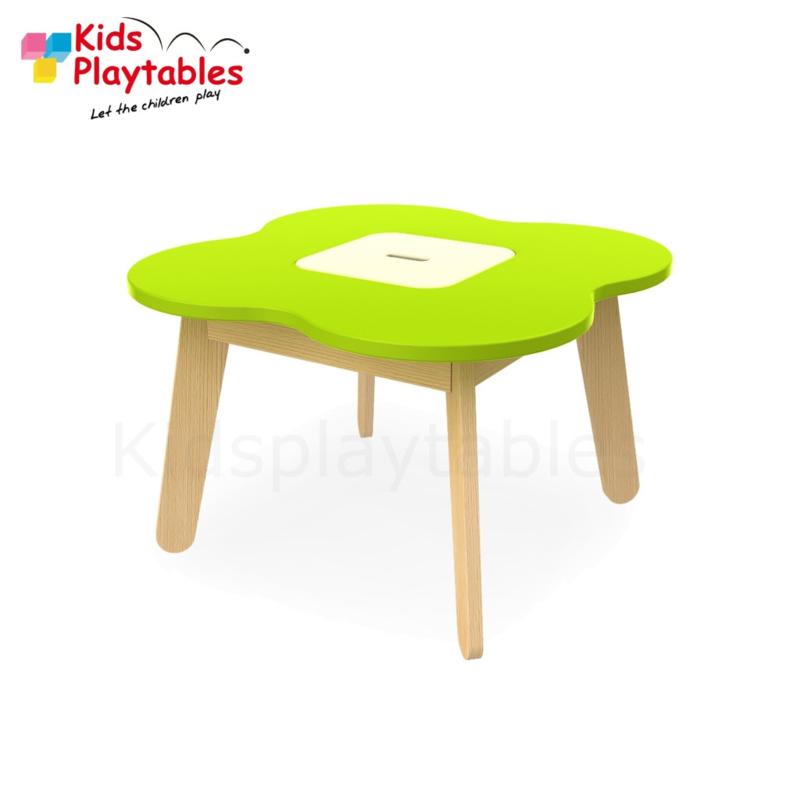 Kinder Speeltafel Simple met opbergruimte kleur groen