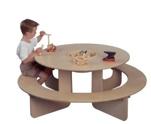 Ronde Speeltafel met losse opbergbak