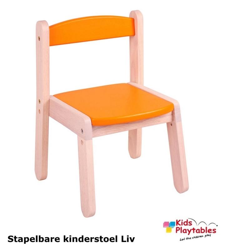 Stapelbare kinderstoel Liv Oranje