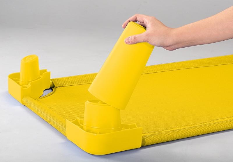 Verhoger voor rustbedje geel