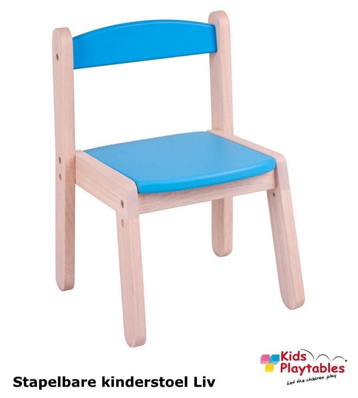 Stapelbare kinderstoel Liv Blauw