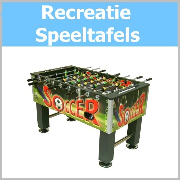 Sporttafels, Voetbaltafels, Airhockey-tafels, Poolbiljarttafels, Tafeltennistafels
