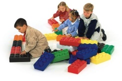 Reuze Lego speelblokken voor uw kinderhoek of kinderspeelparadijs