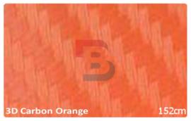 Wrapfolie 3d Carbon Oranje