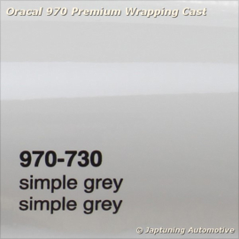 Wrap Folie Oracal Premium 970-730 - Simpel Grijs
