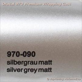 Wrap Folie Oracal Premium 970-090 - Mat Zilver Grijs