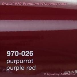Wrap Folie Oracal Premium 970-026 - Paars / Rood