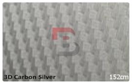 Wrapfolie 3d Carbon Zilver