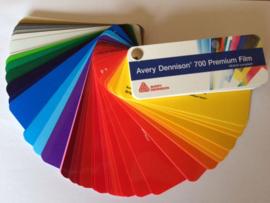 Snijfolie Plotterfolie Avery Dennison 700 kleurenwaaier