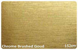 Wrap Folie Chroom Brushed Alu. Goud