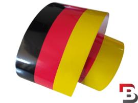 Duitse vlag striping op rol (15cm breed)