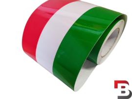 Italiaanse vlag striping op rol (15cm breed)