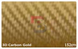 Wrapfolie 3d Carbon Goud