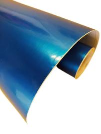 Wrapfolie Glans Blauw Metallic