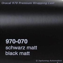 Wrap Folie Oracal Premium 970-070M - Mat Zwart