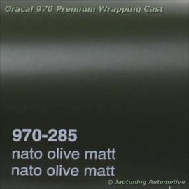 Wrap Folie Oracal Premium 970-285 - Mat Nato Olijf Groen