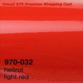 Wrap Folie Oracal Premium 970-032 - Licht Rood