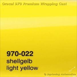 Wrap Folie Oracal Premium 970-022 -  Licht Geel